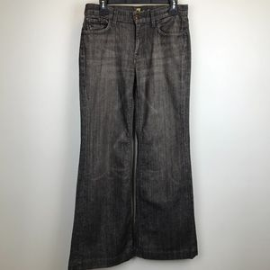 7 For All Mankind Ginger Gray Wash Flare Jeans